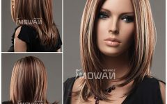 Medium Hairstyles with Red Highlights