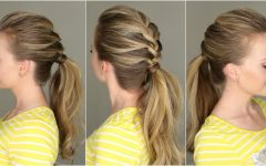 Perfectly Undone Half Braid Ponytail
