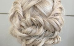Platinum Braided Updo Blonde Hairstyles