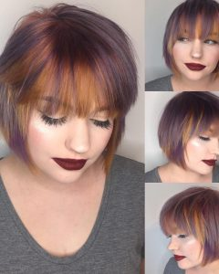 Short Layered Bob Hairstyles with Feathered Bangs