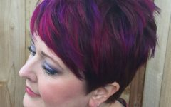 Spiky Mohawk Hairstyles with Pink Peekaboo Streaks