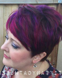 Spiky Mohawk Hairstyles With Pink Peekaboo Streaks