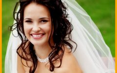 Wedding Hairstyles for Long Hair with Veil and Headband