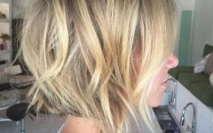 Choppy Golden Blonde Balayage Bob Hairstyles