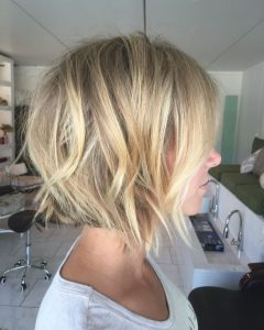 Choppy Golden Blonde Balayage Bob Hairstyles