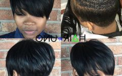 Pixie Haircuts with Weave