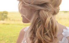 Twisted Side Updo Hairstyles for Wedding