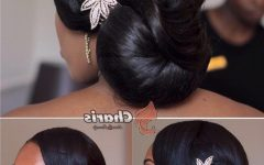 Updo Hairstyles for Black Hair Weddings