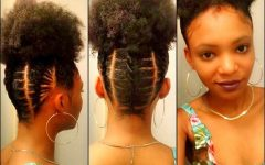 Cornrows Hairstyles with Afro