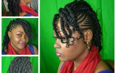 Updo Hairstyles with 2-strand Braid and Curls