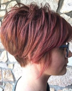 Sunset-Inspired Pixie Bob Hairstyles With Nape Undercut