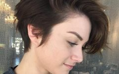 Tapered Pixie Boyish Haircuts for Round Faces