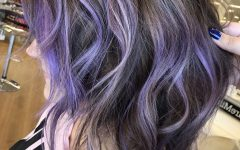 Lavender Balayage for Short A-line Haircuts