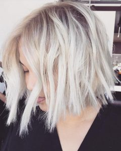 Choppy Bright Blonde Bob Hairstyles