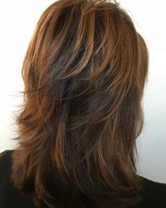 Medium Copper Brown Shag Haircuts For Thick Hair