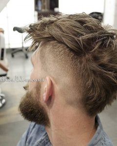 Messy Curly Mohawk Haircuts