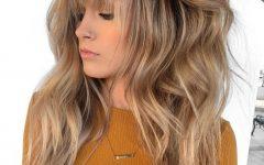 Golden Bronde Razored Shag Haircuts for Long Hair