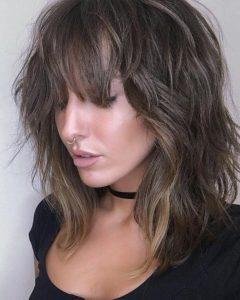 Medium Choppy Shag Haircuts With Bangs