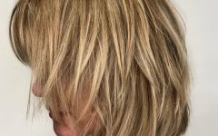 Golden Bronde Sliced Bob Hairstyles