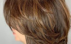 Feathered Golden Brown Bob Hairstyles