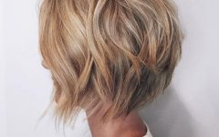 Short Warm Blonde Shag Haircuts