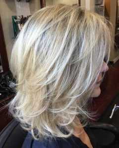 Voluminous Wispy Lob Hairstyles With Feathered Layers