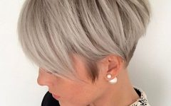 Edgy Ash Blonde Pixie Haircuts