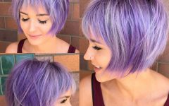 Marvelous Mauve Shaggy Bob Hairstyles