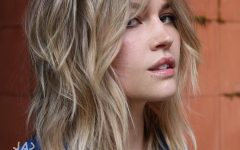 Piece-y Blonde Shag Haircuts with Curtain Bangs