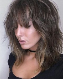 Layered Waves Shag Haircuts