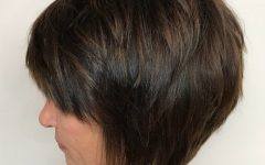 Tapered Shaggy Chocolate Brown Bob Hairstyles