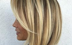 Blonde Bob Haircuts With Side Bangs