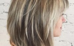 Voluminous Layered Bronde Lob Hairstyles