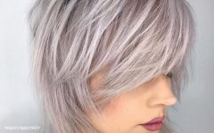 Short-to-medium Shattered Gray Shag Haircuts