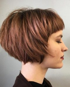 Short Bob Hairstyles With Cropped Bangs