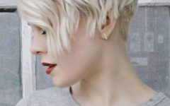 Blonde Pixie Haircuts with Curly Bangs