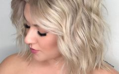 Romantic Blonde Wavy Bob Hairstyles