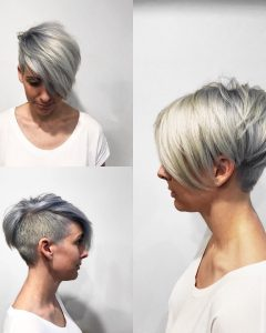 Long Undercut Hairstyles with Shadow Root