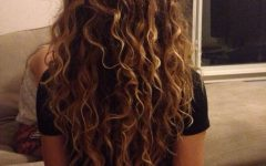 Brown Curly Hairstyles with Highlights