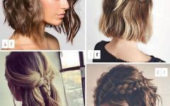 Cute Bob Hairstyles with Bun
