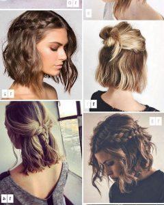 Cute Bob Hairstyles with Bun