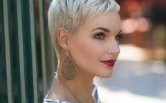Bleach Blonde Pixie Haircuts