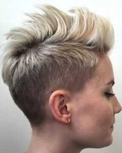 Spiked Blonde Mohawk Hairstyles