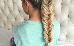 Chunky Ponytail Fishtail Braid Hairstyles