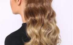 Ombre Curly Ponytail Hairstyles
