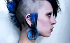 Textured Blue Mohawk Hairstyles