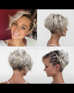 Braided Bob Short Hairdo Bridal Hairstyles