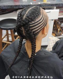 Criss-Cross Goddess Braids Hairstyles