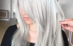 Silver Blonde Straight Hairstyles