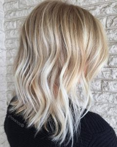 Textured Medium Length Look Blonde Hairstyles